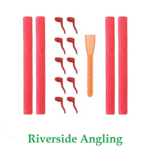 Zig Rig Kit 15pc Red Zig Foam Aligners Carp Fishing Tackle Rigs Pop Up Bait