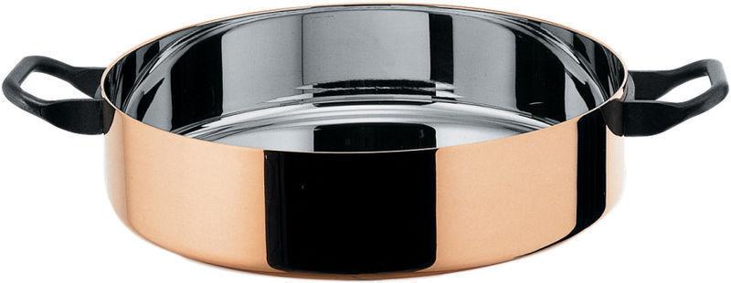 Alessi Officina - 90102 28 La Cintura di Orione Low casserole in S S & copper