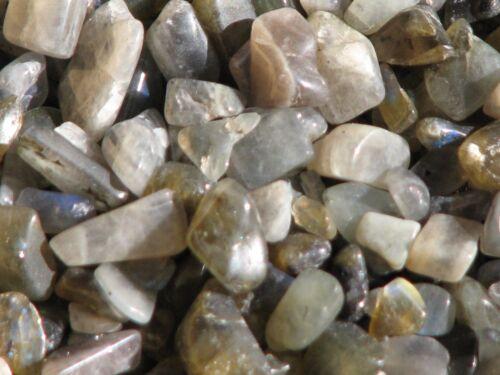 No holes Labradorite Crystal Chips 100 grams