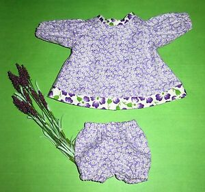 "Handmade Doll Clothes for 14"" Cabbage Patch Dolls - ""Purple Delight"" Dress Set"
