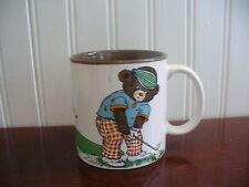 FORE! Vintage Porcelain Bears Playing Golf Mug Potpourri Press Japan