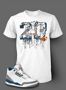 brand new 68120 193b3 Street Wear 23 Shatter Tee Shirt To Match AIR JORDAN 3 TRUE BLUE ...
