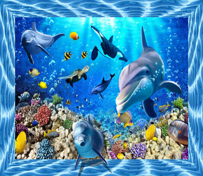 3D Submarine World 2 Floor WallPaper Murals Wall Print Decal 5D AJ WALLPAPER