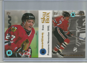 JEREMY-ROENICK-Chicago-Blackhawks-1995-SKYBOX-EMOTION-2-CARD-PROMO-SHEET
