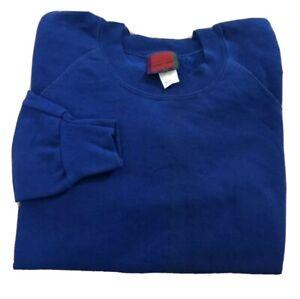 Vintage-80s-90s-Crewneck-Sweatshirt-Blank-Blue-Adult-XL-Made-In-USA