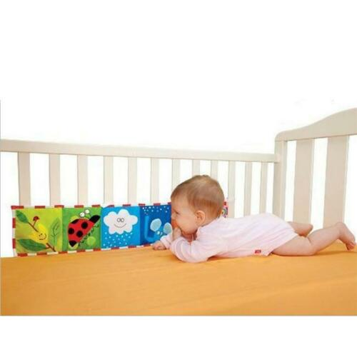 Baby Toddler Crib Cot Toys Cloth Book Rattles Multi-Touch Colourful Bumper LA