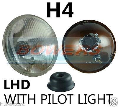 "Ultima Raccolta Di 7 ""lhd Flat Lens Classic Auto Proiettore Luce Anteriore Alogena H4 Conversione Con Pilota- Giada Bianca"