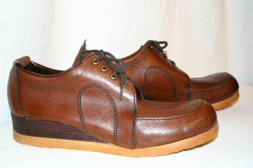 Mens Sz 12 NOS Vtg 60s 70s Sandy McGee Leather Sho