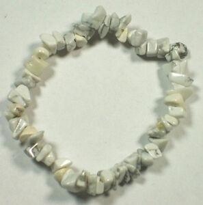 HOWLITE-STRETCH-BRACELET-Stone-Beads-Chips-Crystal-Healing-Chakra-Reiki-Wicca