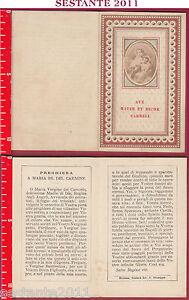Dettagli Su 1910 Santino Holy Card Ave Mater Et Decor Carmeli Maria Ss Del Carmine