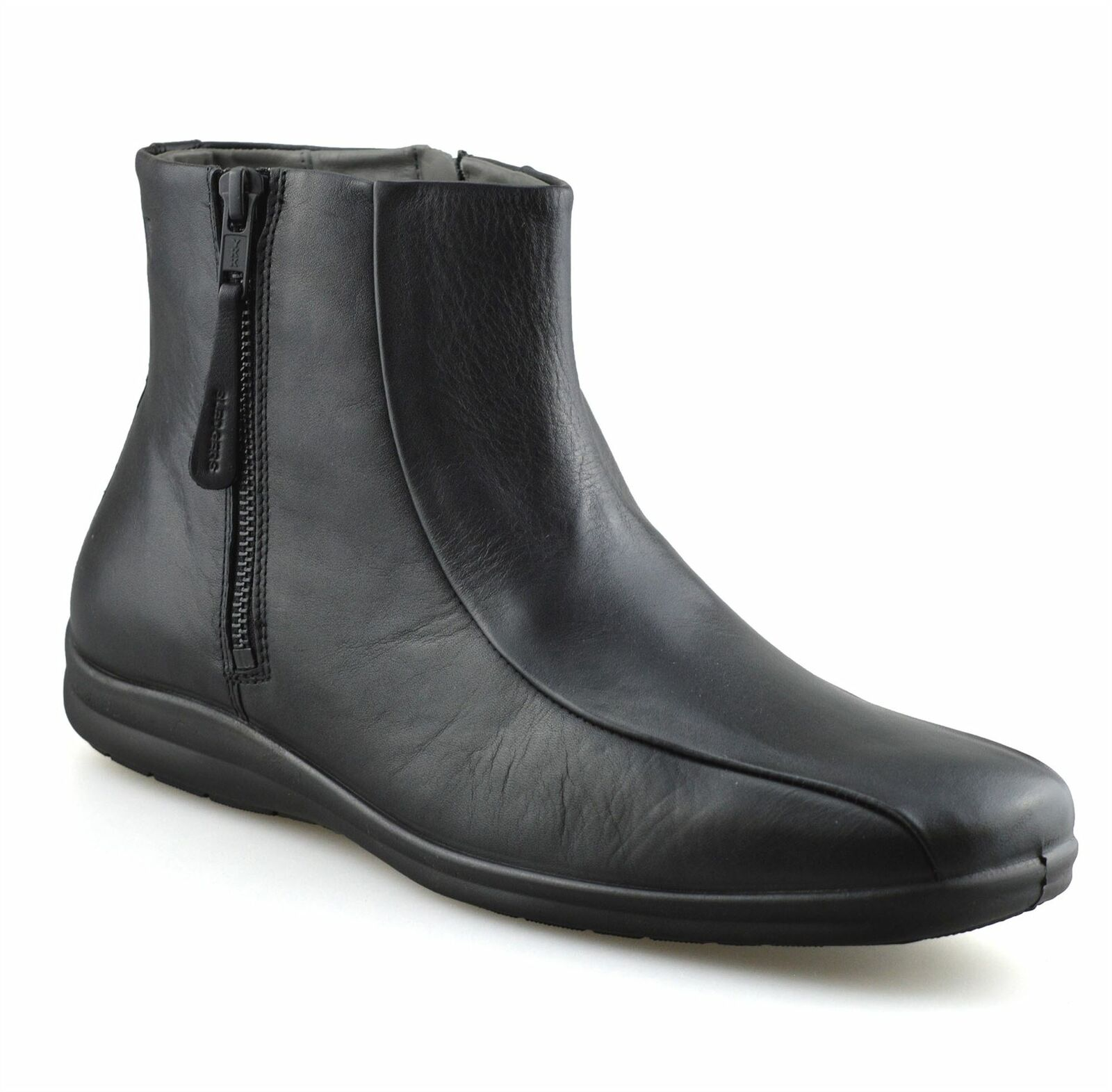 Mens New Leather Zip Up Smart Formal Work Chelsea Dealer Ankle Boots Shoes Size