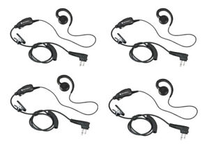 New Motorola RLN6423F 52730 HKLN4604 Headsets Swivel Earpiece Mic PTT