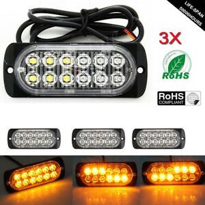 Exterior Accessories Back To Search Resultsautomobiles & Motorcycles Responsible 12leds Car Emergency Hazard Warning Beacon Strobe Light Bar Grill Red+white 36w