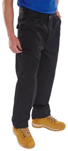 Noir Bleu Marine Travail Jeans Pantalon Genou Patin Poches pilotes Poids Lourd Coton 9 Oz environ 255.14 g