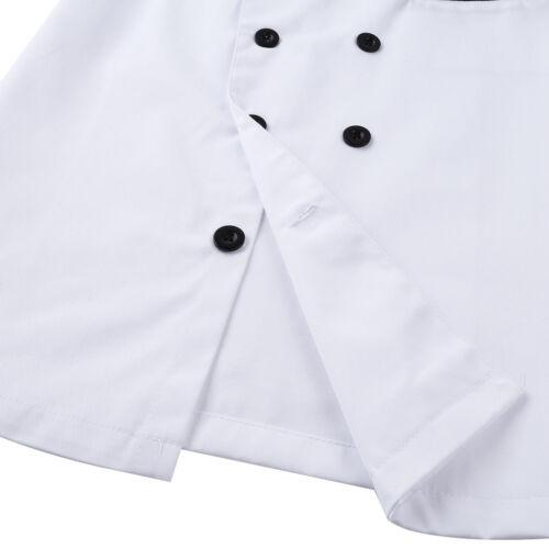 Unisex Chef Cooker Suit Outfit Set Uniform Jacket Coat Kitchen Apparel Vest Tops