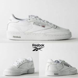Reebok Classic Club C 85 Running Shoes Sneakers White Gray AR0455 SZ ... 4d7043753