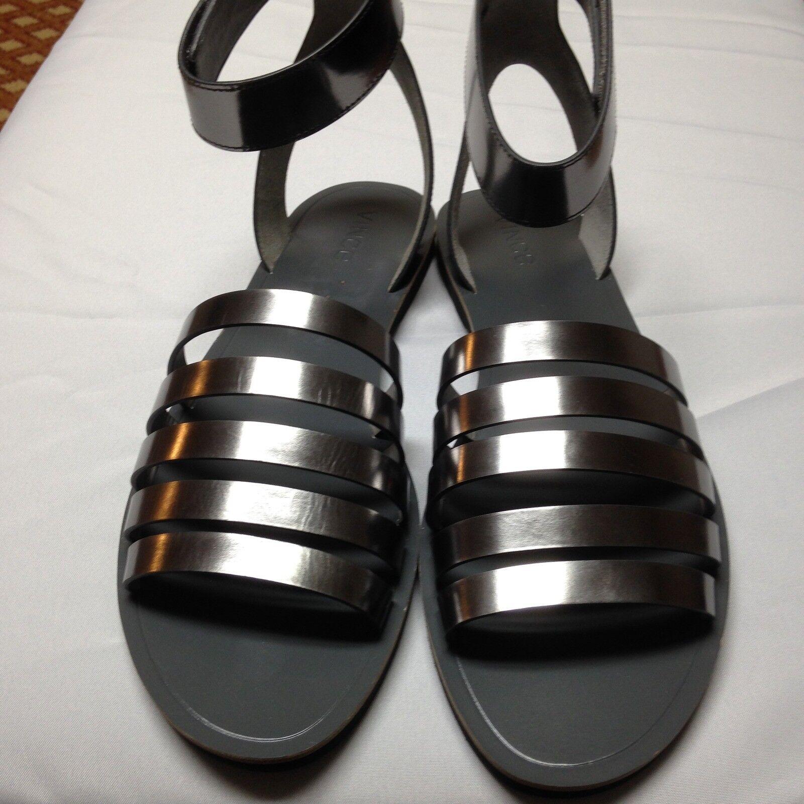 Vince Cassie Open Toe Leder Slingback Sandale Pewter  Größe Leder Größe  10 NWD 0dd8f4