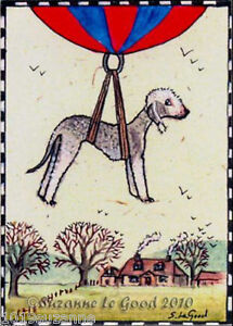 ACEO-Bedlington-Terrier-dog-art-print-from-original-painting-by-Suzanne-Le-Good
