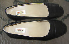 Talbots womens black leather heel shoes sz 6 1/2 M