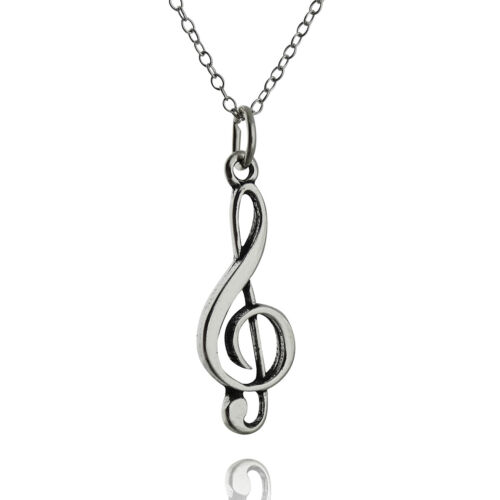 Pendant Music Musician Singer Gift Treble Clef Necklace 925 Sterling Silver