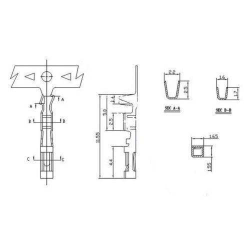 100Pcs Buchsenstecker-Anschlussklemme 2.54mm Pitch Jumper Wire CabNE