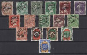 CG141799/ FRENCH ALGERIA - PRECANCELLED / LOT 1924 – 1958 MNH CV 143 $