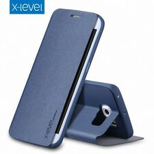 X-Level Stand Luxury Slim Leather Flip Case Stand Cover Samsung Galaxy S8+ Plus
