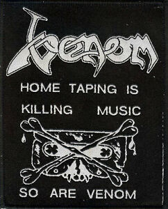 Venom-Home-Taping-patch-Sodom-Motorhead-Bathory-Slayer-Hellhammer-Celtic-Frost
