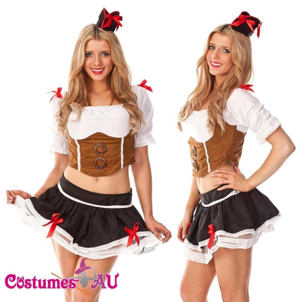 Ladies Wench Caribbean Pirate Costume Swashbuckler Halloween Fancy Dress Up Hat