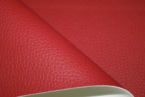 Red Grained Premium Duty Faux Leather Upholstery Material Leatherette Fabric