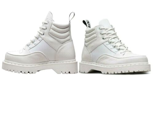 Ladies Womens Dr Martins Zuma Boots White Aunt Sally Shoes Footwear Sizes 3-9