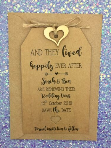 We Still Do Save The Date Tag// Card Wedding Vow Renewal Anniversary Invitation