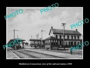 OLD-LARGE-HISTORIC-PHOTO-OF-MIDDLETOWN-CONNECTICUT-THE-RAILROAD-STATION-c1900