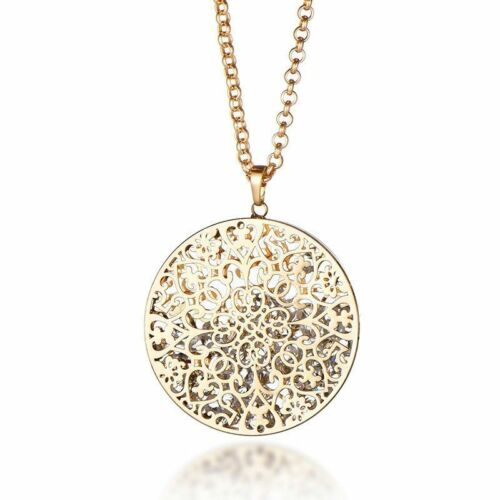 Long Necklaces /& Pendants Crystal Hollow Locket Necklace Gift Women Statement