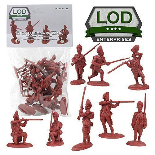 BARZSO LOD American Revolution British Grenadiers 16 Toy Soldiers 1/32 FREE SHIP