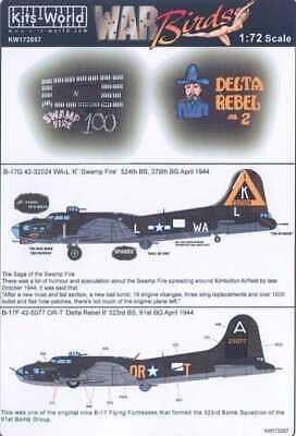 Kits-World 1//72 B-17 Flying Fortress # 72057