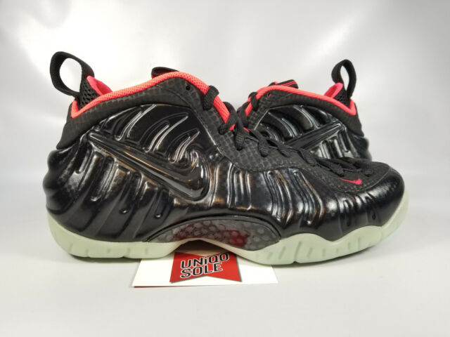7144df4dc55f5 Nike Air Foamposite Pro YEEZY SOLAR BLACK LASER CRIMSON RED 616750-001 sz  7.5