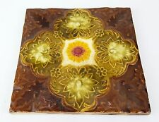 ANTIQUE VICTORIAN TILE - RECLAIMED CERAMIC CENTRE FIREPLACE - HAND PAINTED