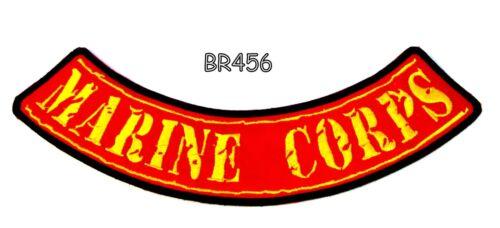 MARINE CORPS Iron on Bottom Rocker Patch for Motorcycle Biker Vest BR456