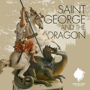 Porcelaine-Capodimonte-San-Giorgio-et-le-Dragon-Fantastique-creazione