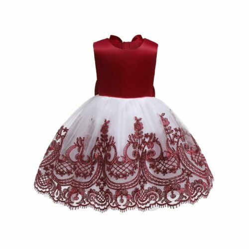 Tutu Kid Dresses Flower Party Wedding Bridesmaid Dress Girl Baby Princess Formal