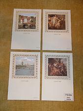 GREAT BRITAIN BENHAM SILK POSTCARDS EUROPA 1984 SET (4) UNUSED RARE COLLECTABLE