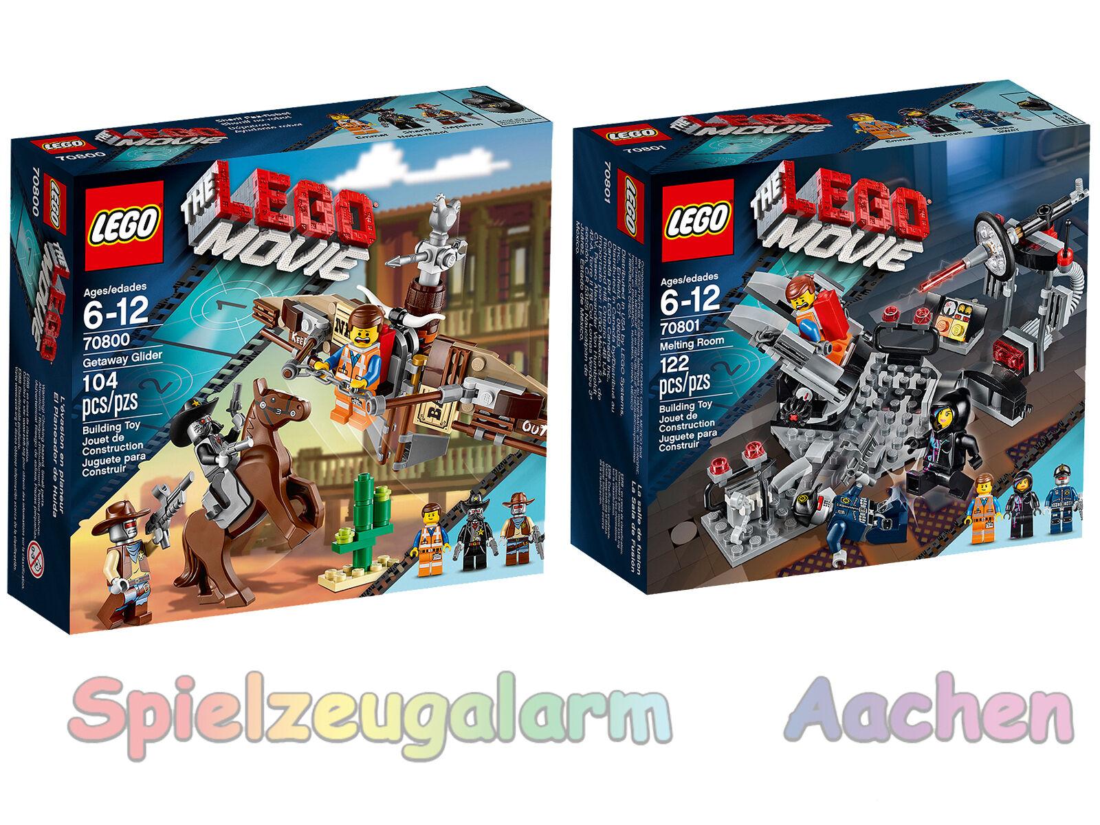 LEGO MOVIE 70800 + 70801 Schmelz Raum Flucht mit dem Gleiter Melting Room