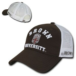 2e211afa5 Details about NCAA Brown Bears University Curved Bill Relaxed Mesh Trucker  Caps Hats