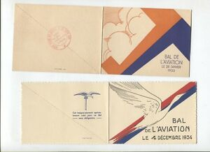 N°5218 / 2 Dépliants Invitation Bal De L'aviation 1933-1934 Jbn9gwei-08012633-890146184