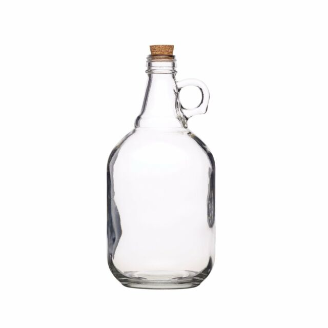 Home Made 1.9 Litre Clear Traditional Glass Demijohns