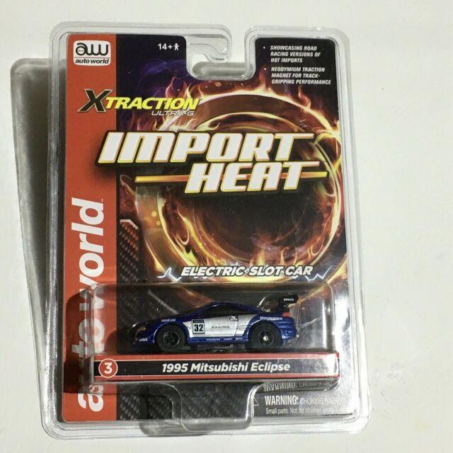 IMPORT Heat Blue 1995 MITSUBISHI Eclipse Racer HO Slot Car Xtraction R28 for sale online