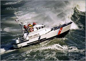 "Poster Print: 18"" x 24"": USCG 47ft Motor Lifeboat Surf Training In Ilwaco, WA"