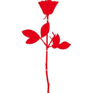 Rose-100cm-Rouge-Voiture-Porte-Fenetre-Meuble-Deco-Film-Depeche-Mode-Autocollant