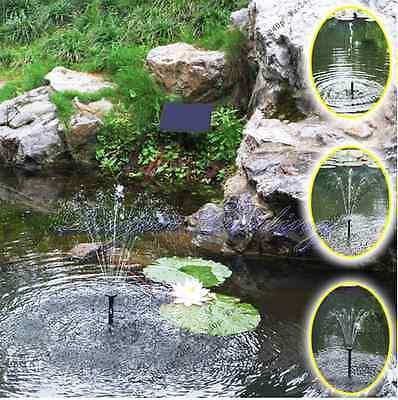 Solar Water Panel Power Fountain Pump Kit Pool Garden Pond Watering Submersible